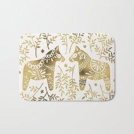 Swedish Dala Horses – Gold Palette Bath Mat