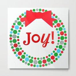 Joy Wreath Metal Print