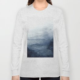Indigo Abstract Painting | No.2 Long Sleeve T-shirt