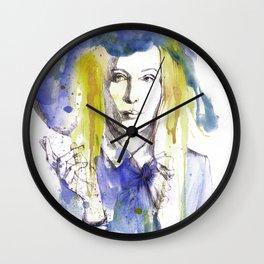 purple hat Wall Clock