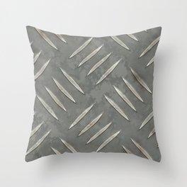 Old Worn Looking Metal Floor Throw Pillow