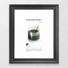 Sinatra Booze Framed Art Print