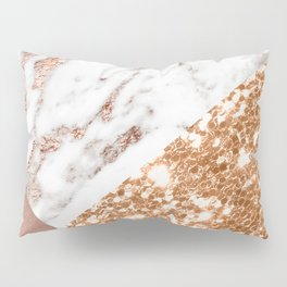 Layers of rose gold Pillow Sham