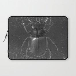 BLACK & WHITE  ANTIQUE STAG-HORNED BEETLE   PATTERNS  ART Laptop Sleeve