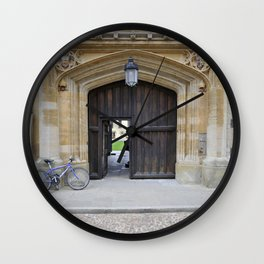 Oxford door 12 Magdalen College Wall Clock