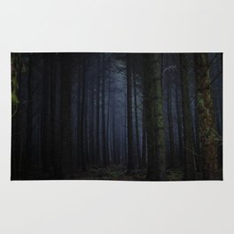 The Dark & Eerie Woods (Color) Rug