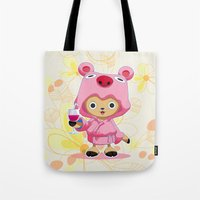 one piece Tote Bags featuring One Piece: TonyTony Chopper by Neo Crystal Tokyo