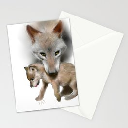 Wolf and Pup Stationery Cards