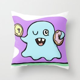 Is That More Food? The Elusive Donut Ghost. Throw Pillow