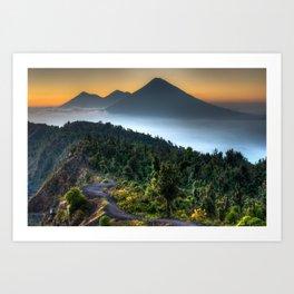 Volcanic Sunset Art Print