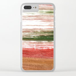 Copper abstract watercolor Clear iPhone Case