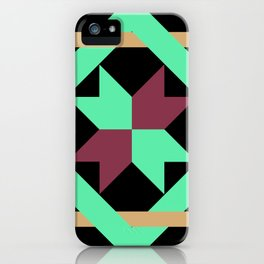 Intertwined Quilt Pattern iPhone Case