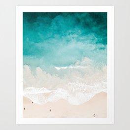 Maui Beach Drone Photo Art Print