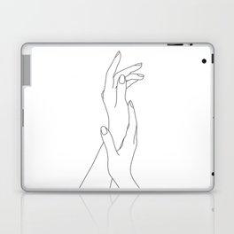 Hands line drawing illustration - Dia Laptop & iPad Skin