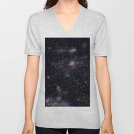 This Life Is Beautiful, With the Colors of The Universe Unisex V-Neck
