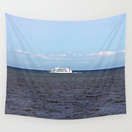 Yatch and Birds Racing Wall Tapestry