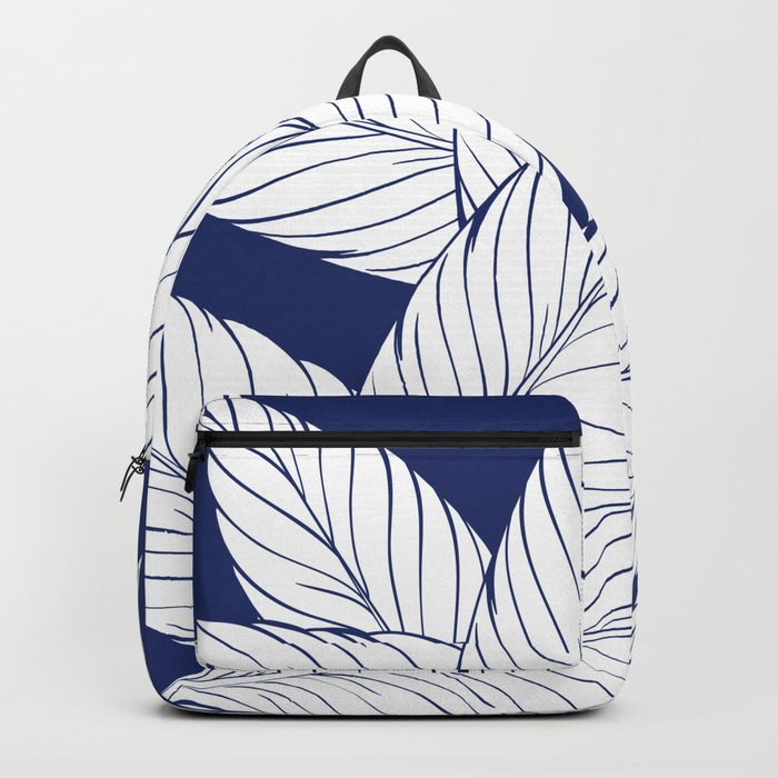 SUMMERTIME (Leaves on blue) Backpack