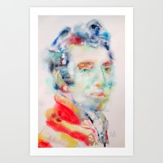 ARTHUR WELLESLEY-1st DUKE of WELLINGTON - watercolor portrait Art Print