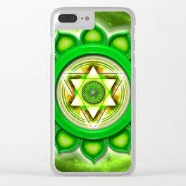 "Anahata Chakra - Heart Chakra - Series ""Open Chakra"" Clear iPhone Case"