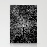 washington Stationery Cards featuring washington map by Line Line Lines