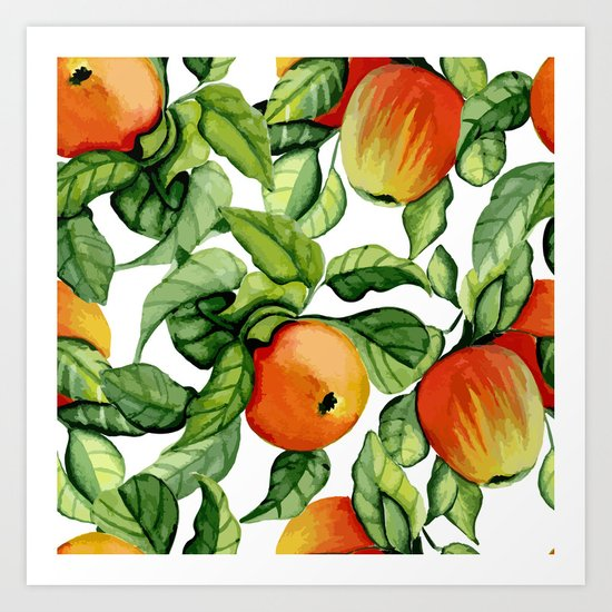 Ripe apples Art Print