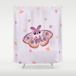 Marbled Emperor Moth Shower Curtain