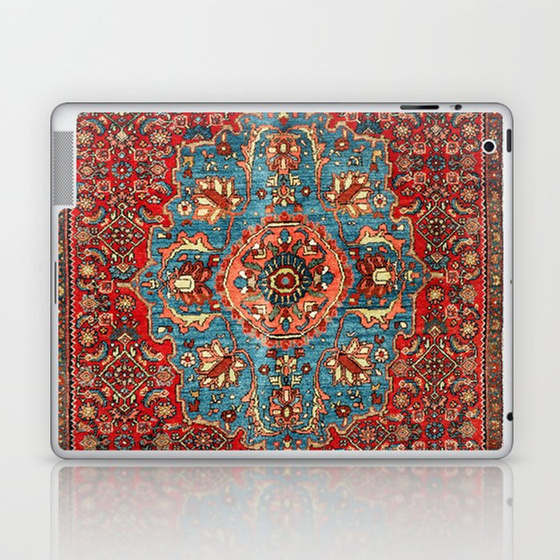 Bidjar Antique Kurdish Northwest Persian Rug Print Laptop & iPad Skin
