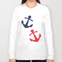 anchors Long Sleeve T-shirts featuring Anchors by Indulge My Heart