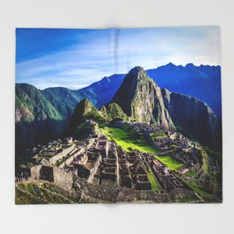 Machu Picchu First Light Throw Blanket
