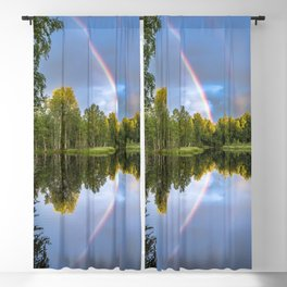 Rainbows: The gift from heaven to us all Blackout Curtain