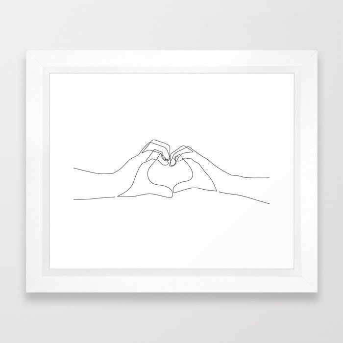 Hand Heart Framed Art Print