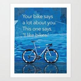 Ritte - I like Bikes Art Print