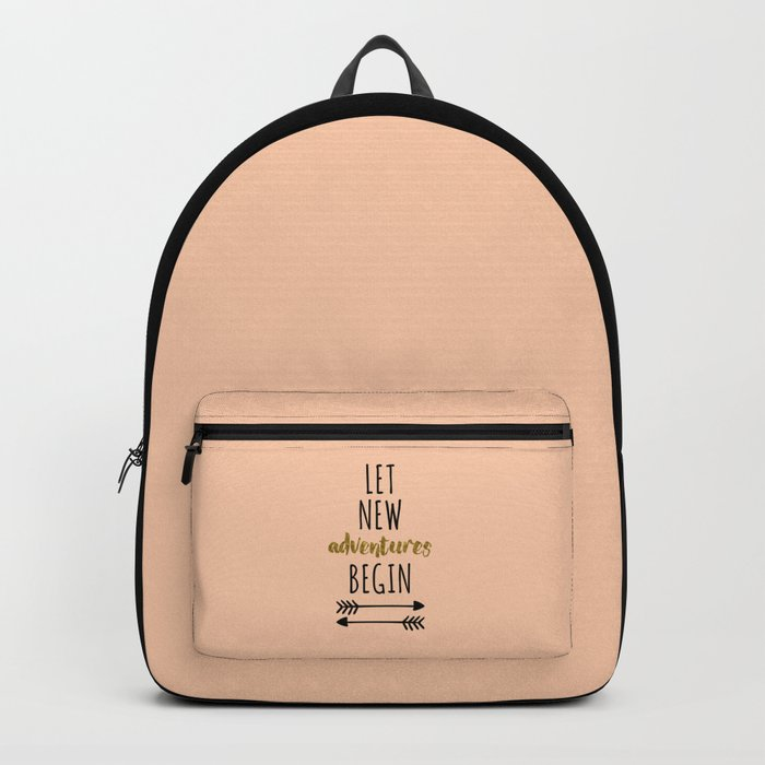 New Adventures Travel Quote Backpack