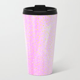 pink pastel with golden dots Travel Mug