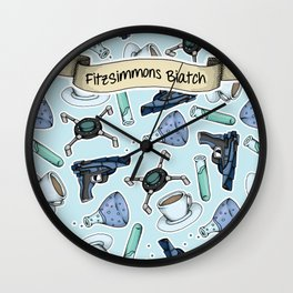 FitzSimmons Biatch Pattern Wall Clock