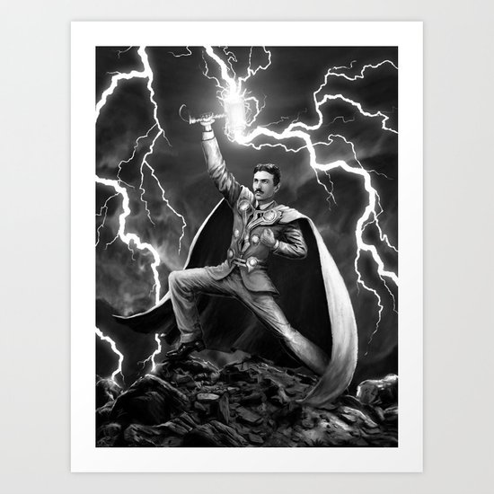 Tesla: God of Thunder Art Print