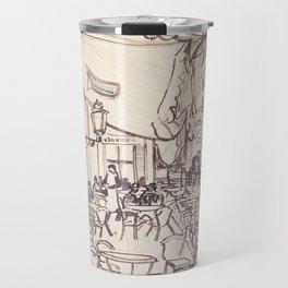 Cafe Terrace at Night (sketch) Travel Mug