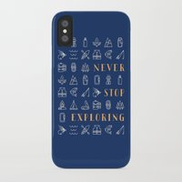 never stop exploring iPhone & iPod Cases featuring Never Stop Exploring by Wes Franklin