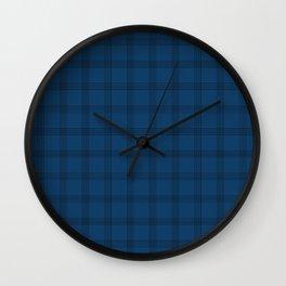 Black Grid on Dark Blue Wall Clock