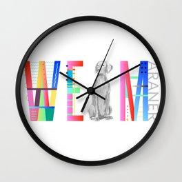 WEIMARANER FONT Wall Clock