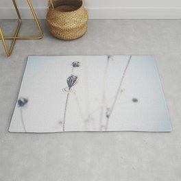 winter flowers minimalist print Rug