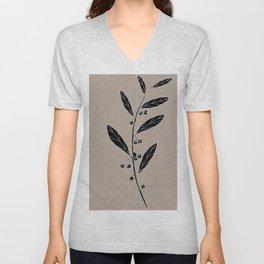 Dysentery Bush (also known as Emu Berry or Paper Berry) - Grewia retusifolia Unisex V-Neck