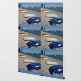 Chicago Shoreline, Skyline, Boats Wallpaper