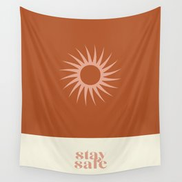 Stay Home Stay Safe Wall Tapestry