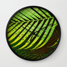 TROPICAL GREENERY LEAVES no3 Wall Clock