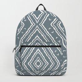 Slate Boho Diamonds Ikat Backpack