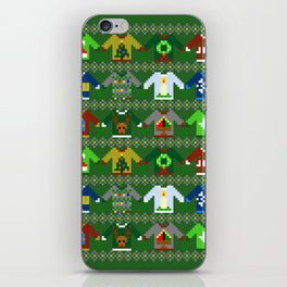 The Ugly 'Ugly Christmas Sweaters' Sweater Design iPhone Skin