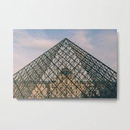 The Louvre, Paris, France Metal Print