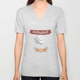 Volleyball Mom - Team Biggest Fan Mother Unisex V-Neck