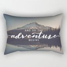 Trillium Adventure Begins Rectangular Pillow